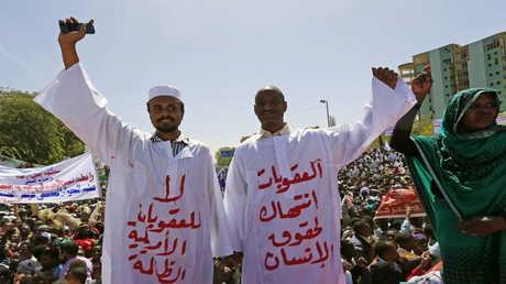 أرشيف - احتجاجات في السودان ضد العقوبات الأمريكية