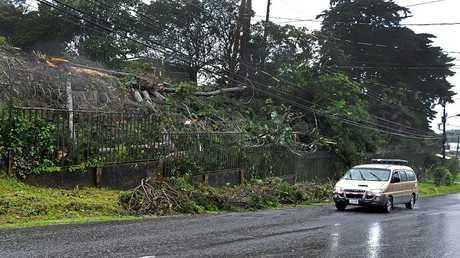 """آثار العاصفة """"نايت"""" في كوستاريكا"""