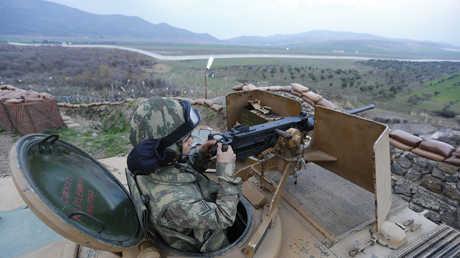 الشريط الحدودي بين تركيا وسوريا