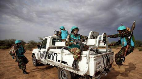 أفراد من قوات حفظ السلام الدولية في السودان