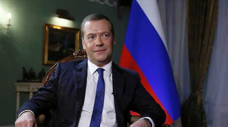 رئيس الوزراء الروسي، ديمتري مدفيديف