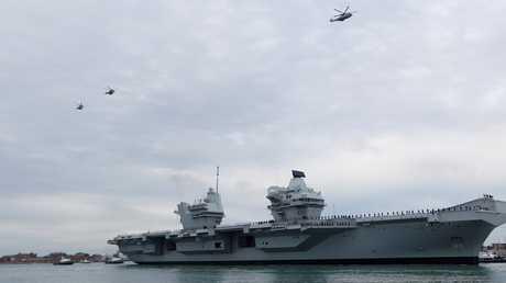 """حاملة الطائرات البريطانية الجديدة """"HMS Queen Elizabeth"""""""