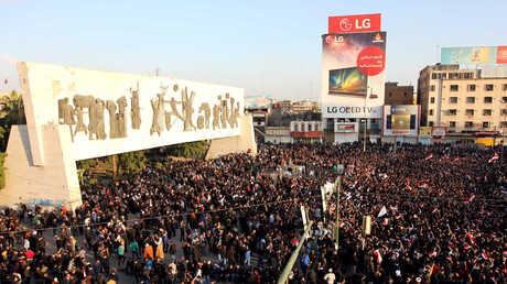 أنصار مقتدى الصدر وسط بغداد - صورة أرشيفية