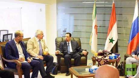المدير التنفيذي لمجلس رجال الأعمال الروسي-السوري، لؤي يوسف خلال جلسة عمل