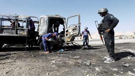 آثار تفجير انتحاري في مدينة كويتا الباكستانية