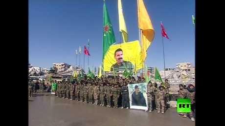 نساء قوات سوريا الديمقراطية تحتفلن بتحرير الرقة