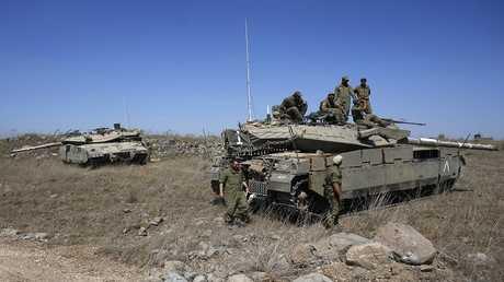أرشيف - جنود من الجيش الإسرائيلي بالقرب من الحدود مع القنيطرة