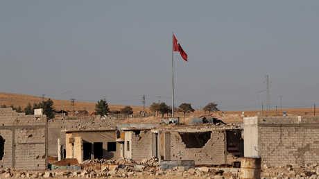 الحدود السورية التركية من جانب منطقة عين العرب (كوباني) بشمال سوريا