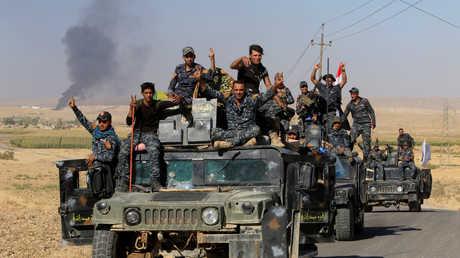 عناصر من القوات العراقية في كركوك