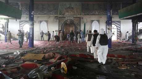 مسجد الإمام زمان في كابل بعد الهجوم - أرشيف