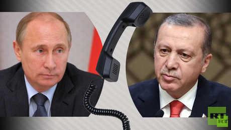 الرئيسان التركي رجب طيب أردوغان والروسي فلاديمير بوتين