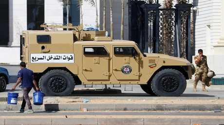 دورية أمن مصري شمال العاصمة القاهرة 18 أكتوبر 2017