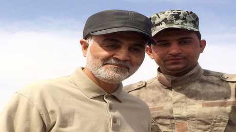 أرشيف - قائد الحرس الثوري الإيراني قاسم سليماني في محافظة صلاح الدين - العراق  8 مارس 2015