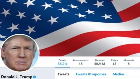 حساب الرئيس الأمريكي على تويتر