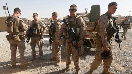 أفراد من قوات مشاة البحرية الأمريكية في أفغانستان