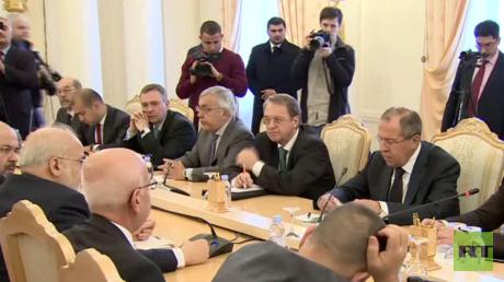القاء بين وزيري الخارجية الروسي سيرغي لافروف والعراقي إبراهيم الجعفري