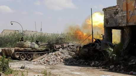 دبابة تابعة للجيش الوطني الليبي - أرشيف -