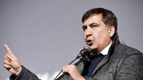 رئيس جورجيا السابق والحاكم السابق لمنطقة أوديسا الأوكرانية، ميخائيل ساكاشفيلي