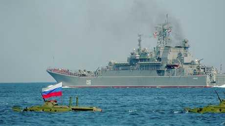 إحدى سفن الأسطول الروسي