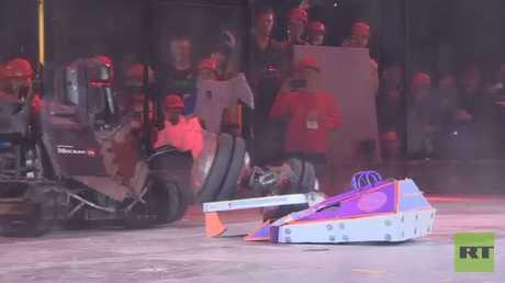 موسكو تستضيف مسابقة في مصارعة الروبوتات