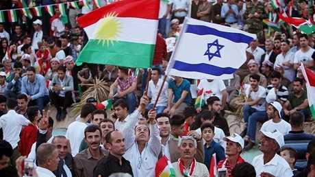 أكراد يرفعون علم إسرائيل في كردستان العراق - أرشيف