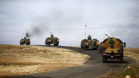 القوات التركية بالقرب من الحدود السورية - أرشيف