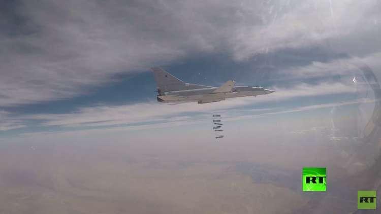 شاهد.. قاذفات استراتيجية روسية تستهدف مواقع
