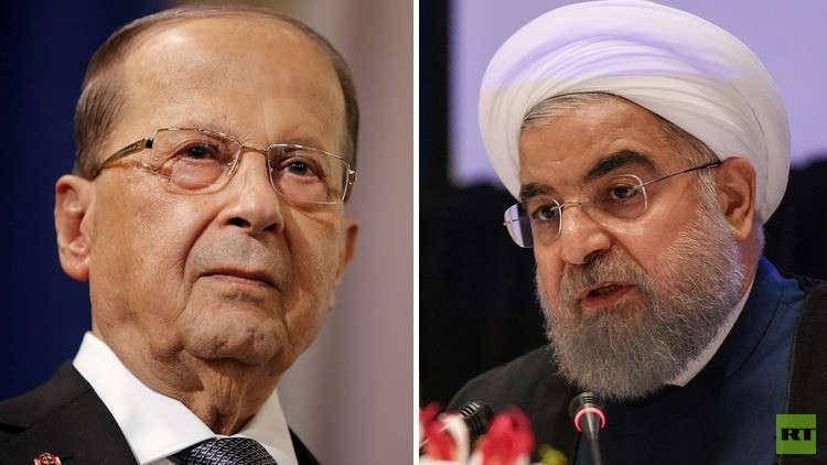 روحاني يبحث مع عون استقالة الحريري
