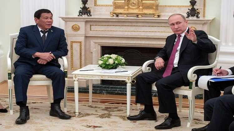 بوتين يهنئ دوتيريتي بالانتصار على الإرهابيين
