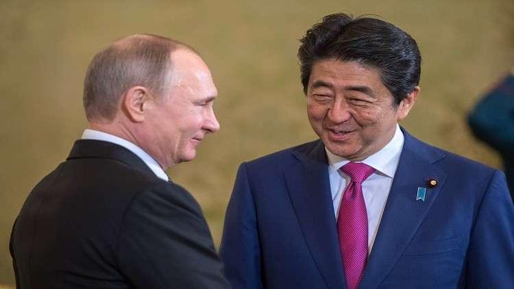 بوتين يهنئ آبي ويدعو لتنفيذ خطط التعاون الروسي الياباني