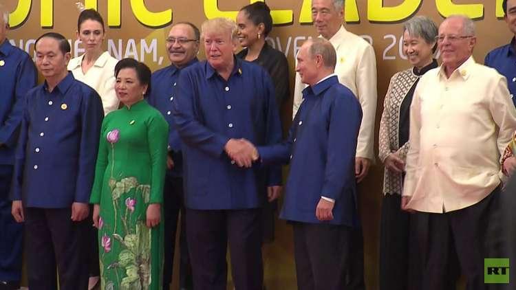 تواصل أعمال قمة آبيك بحضور بوتين وترامب