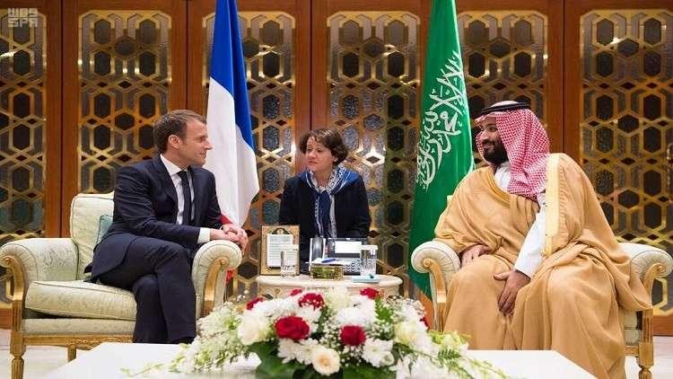 ماكرون طلب مساعدة مالية من السعودية