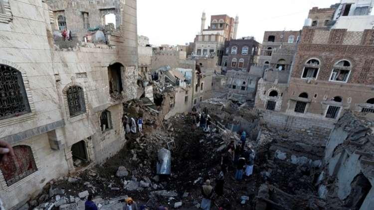 التحالف يقصف مبنى كلية الشرطة في صنعاء