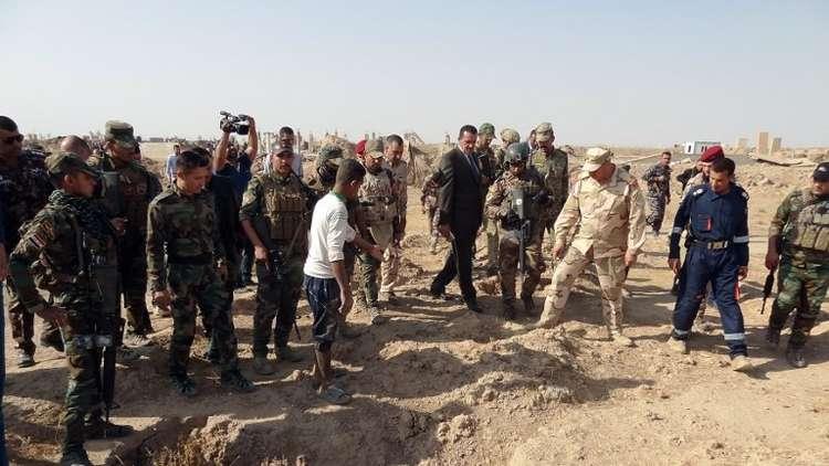 العثور على مقابر جماعية بقاعدة أمريكية في كركوك