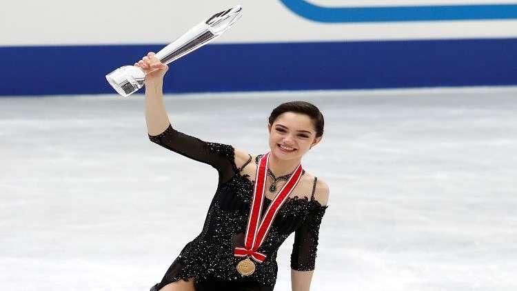ملكة الجليد الروسية تفوز بذهبية جائزة