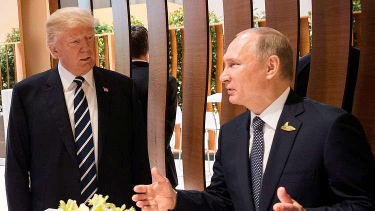 الرئيس الروسي فلاديمير بوتين، ونظيره الأمريكي دونالد ترامب