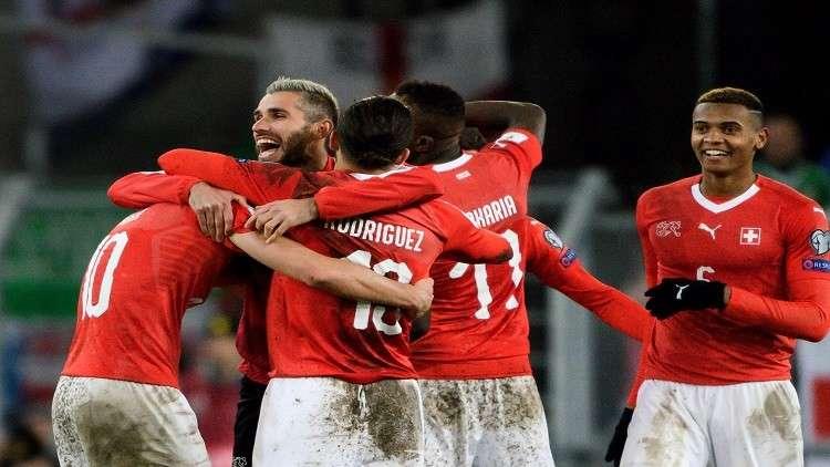 سويسرا تلحق بركب المتأهلين لمونديال روسيا