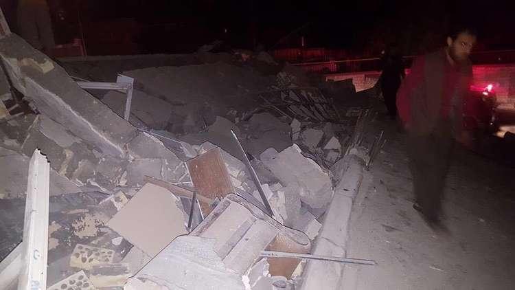 آثار الزلزال القوي في إقليم كردستان العراق