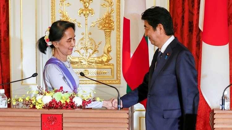 اليابان تعد ميانمار بمليار دولار
