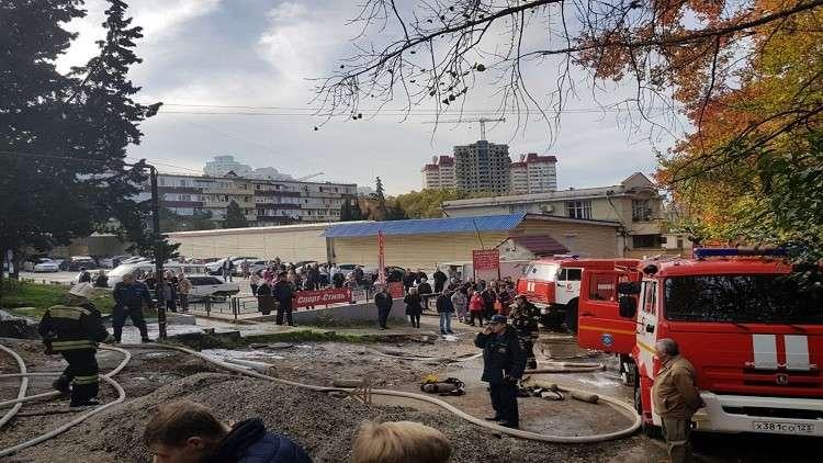 قتيل و26 إصابة بسبب حريق في سوتشي