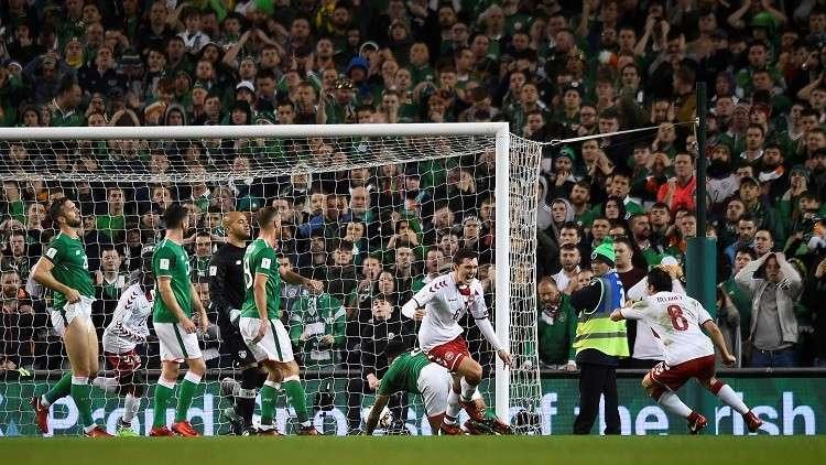 الدنمارك تقلب الطاولة على إيرلندا وتبلغ مونديال 2018