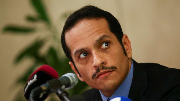 وزير خارجية قطر يبحث مع سيناتورات أمريكيين