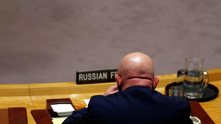 روسيا تستخدم الفيتو ضد مشروع قرار أمريكي حول تمديد مهمة آلية التحقيق في كيميائي سوريا