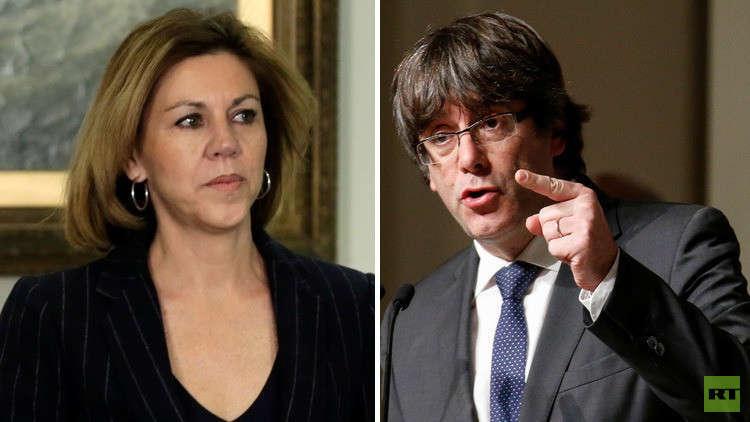 وزيرة الدفاع الإسبانية تقع في الفخ