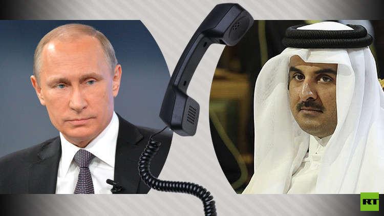 بوتين يبحث مع أمير قطر أزمتي سوريا والخليج