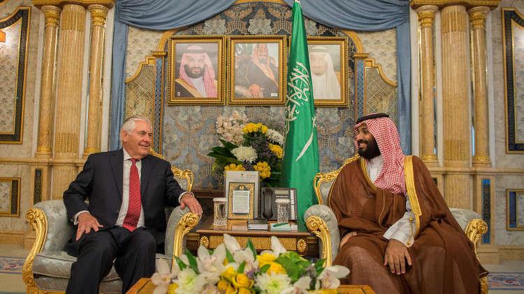 بعد لقائه مع آل ثاني .. تيلرسون يبحث مع محمد بن سلمان أمن المنطقة ومكافحة الإرهاب