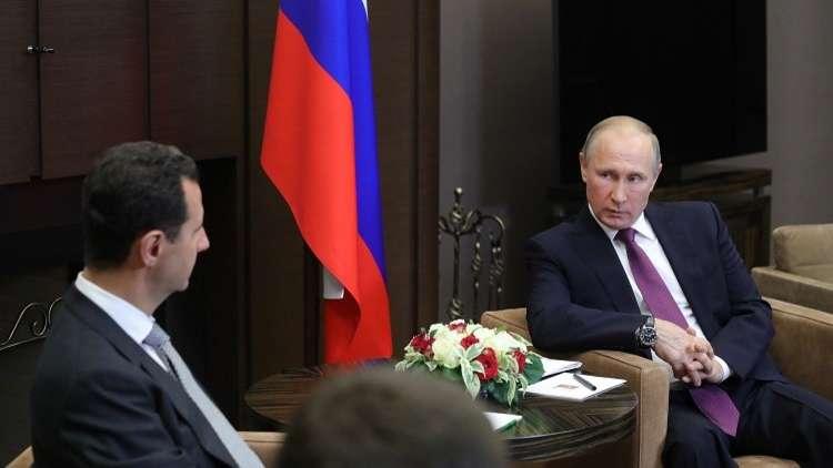 بعد لقائه الأسد في سوتشي.. بوتين يجري اتصالا هاتفيا مع كل من ترامب والملك سلمان الثلاثاء