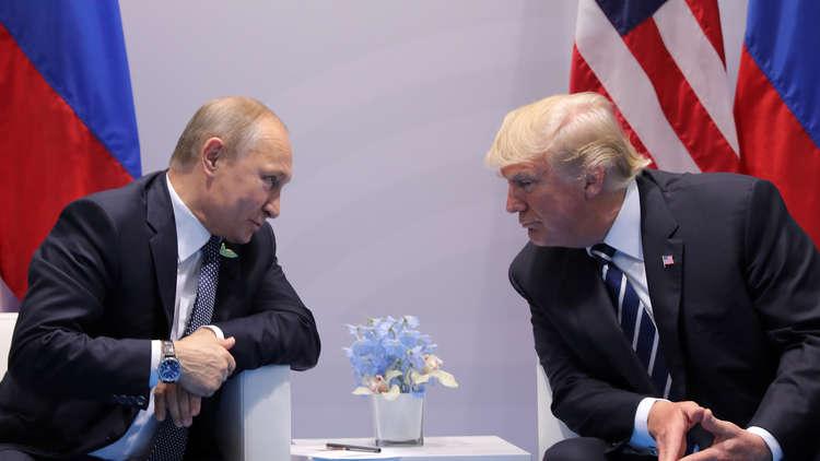 ترامب: أجريت مكالمة رائعة مع بوتين حول السلام في سوريا