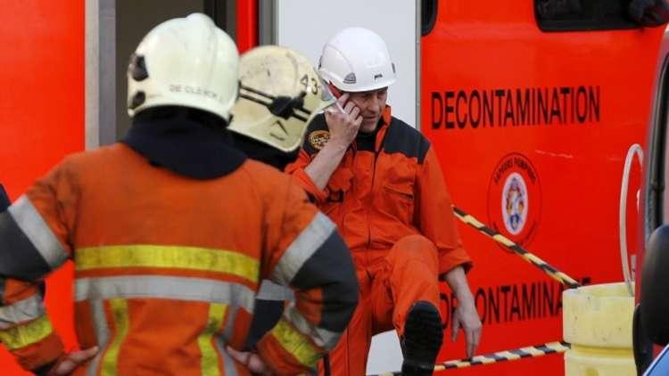 بلجيكا.. اندلاع حريق ضخم في بروكسل