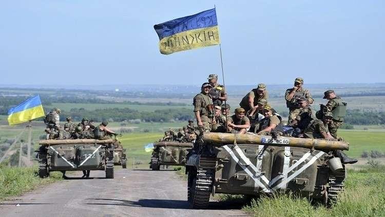 دبابات سوفيتية تنتقل من ألمانيا إلى أوكرانيا